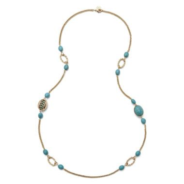 Monet Aqua Stone Station Necklace found at JCPenney My Jewelry