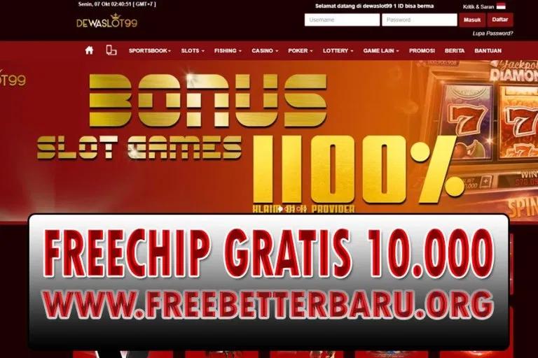 Freebet Tanpa Deposit Dewaslot99 Senilai 10 000 Freebet Terbaru Freechip Terbaru Chip Gratis Terupdate Ruang Permainan Slots Permainan Kartu