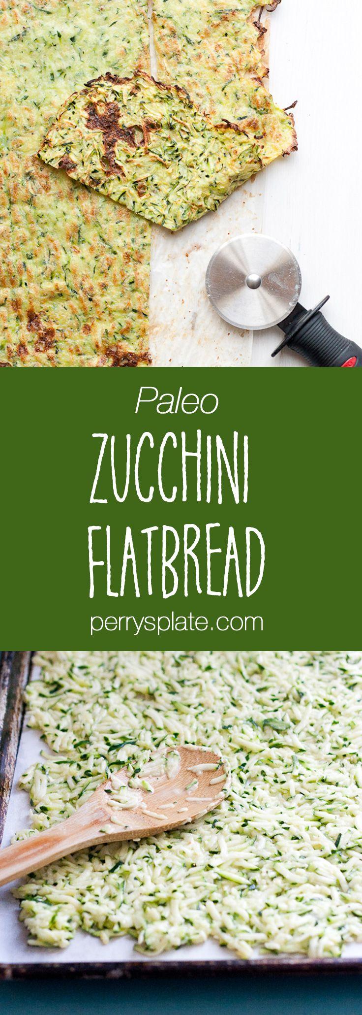 Paleo Zucchini Flatbread - Perry's Plate