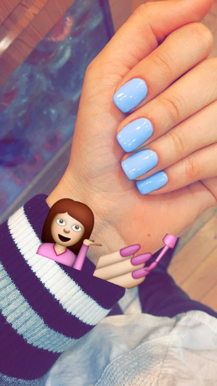 I Found The Color I Was Looking For Springnails Gel Babyblue Powderblue Blue Nails Blue Gel Nails Powder Nails Nails Tumblr