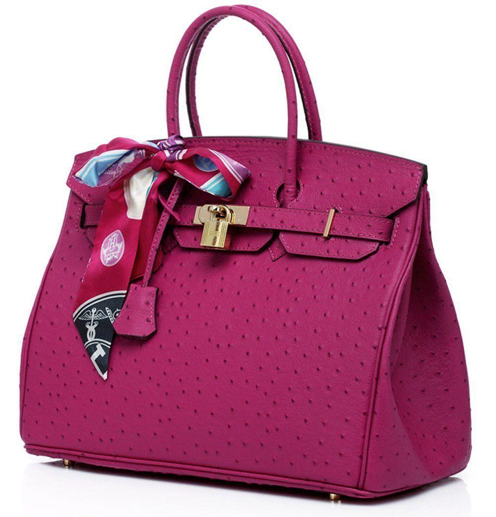62503e122 Bagroo 100% Genuine Leather Handbag Padlock Handbags Satchel Padlock Tote  Purse.