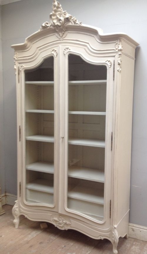 If3977 Antique French Rococo Double Armoire Furniture Shabby Chic