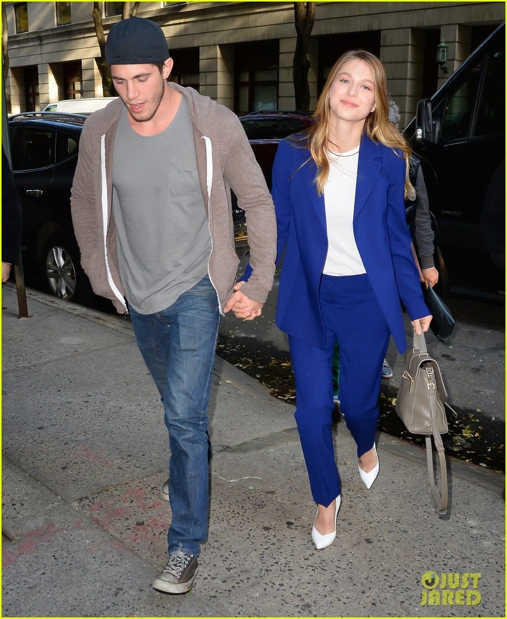 Melissa Benoist Gets Support From Hubby Blake Jenner During Supergirl Promo In The Big Apple Melissa Benoist Blake Jenner Blake Jenner Blake Jenner Supergirl