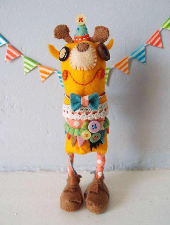 Happy Giraffe Cute Animal Handmade doll - Geoffrey