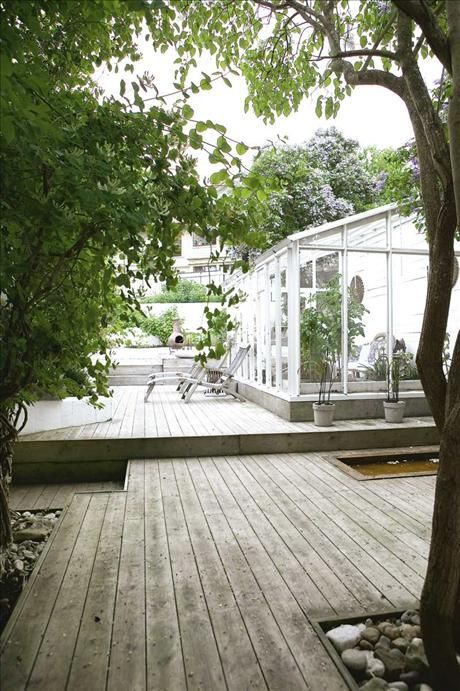 deck. Love this. With the Greenhouse