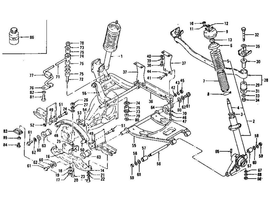 Rear Suspension Strut Shock Absorber Amp Transverse Link
