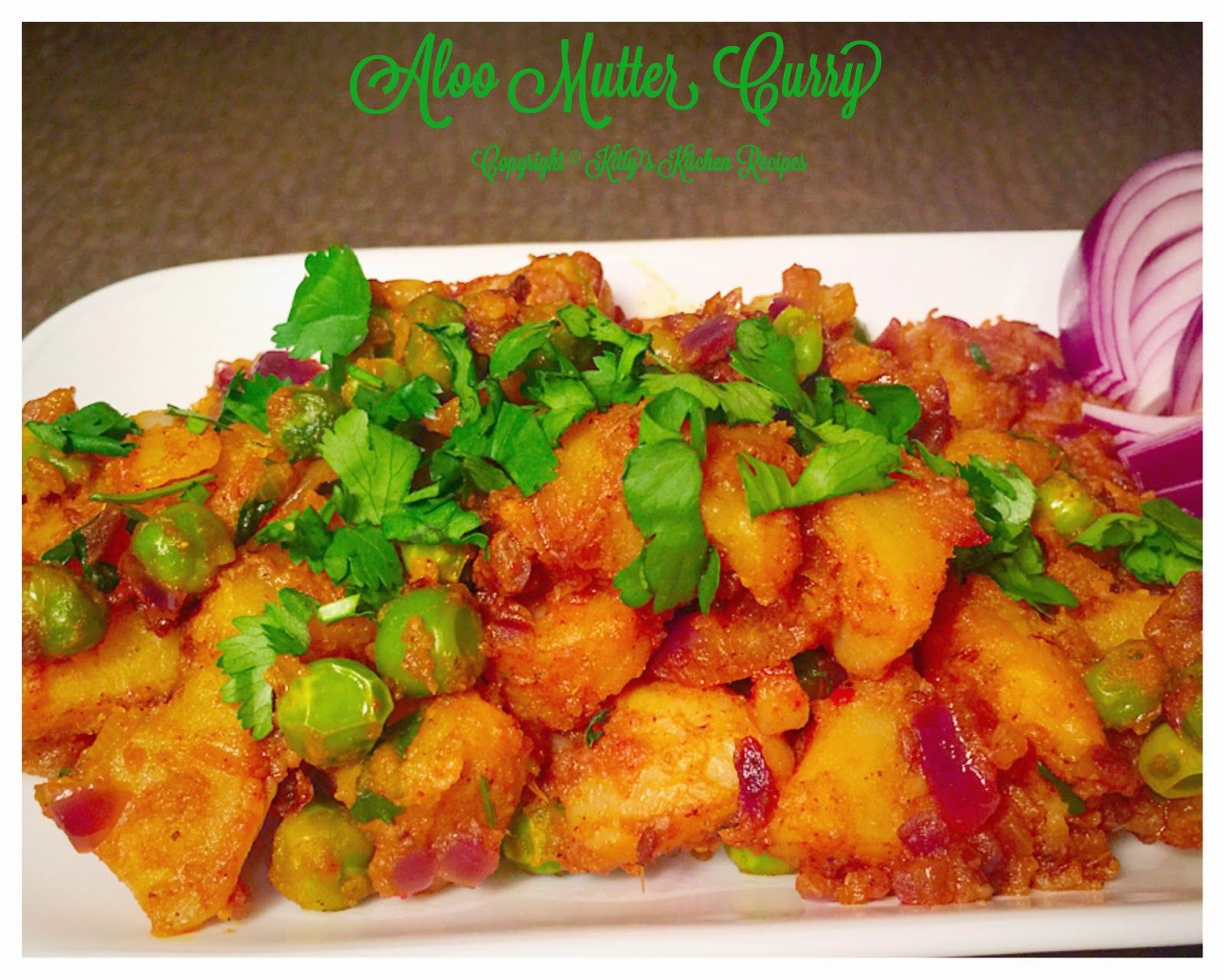 Aloo Mutter Curry Potato Peas Curry Kitty S Kitchen