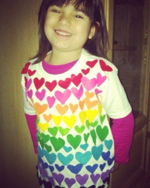 #100thdayofschool #school #pink #100 #shirt #rainbow #girlygirl #project #girl #hearts #days #of #100daysofschool
