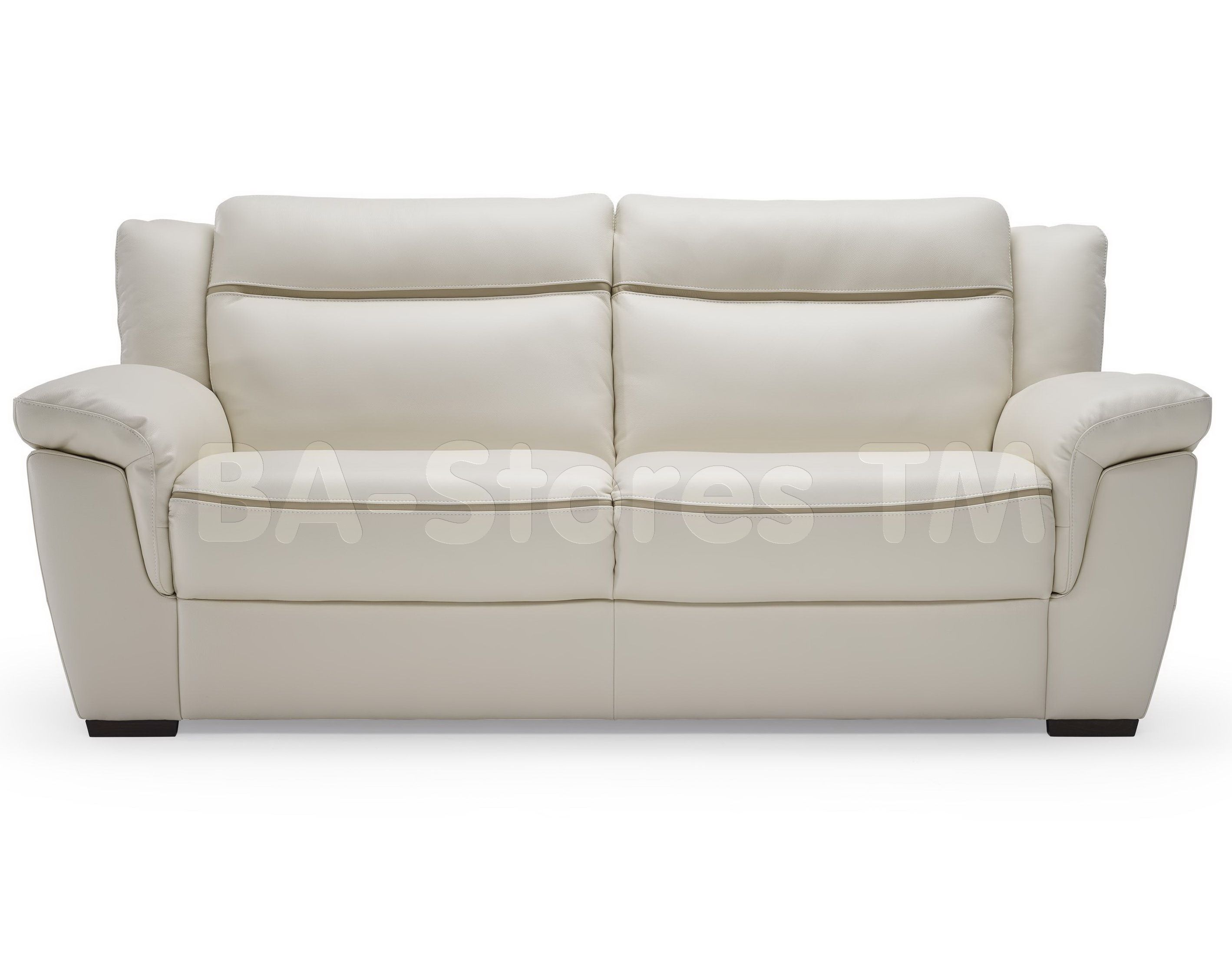 Natuzzi Editions Casual Contemporary Leather 2 Cushion Sofa B865 ...