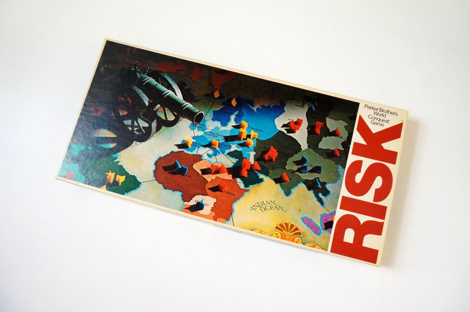 Parker Brothers Risk World Conquest Board Game 1975 VGC