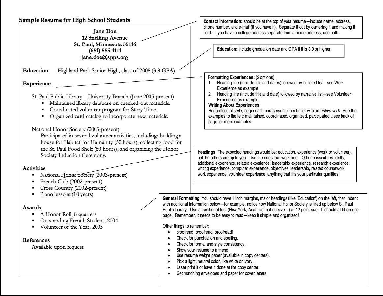 High School Resume Format High school resume, High