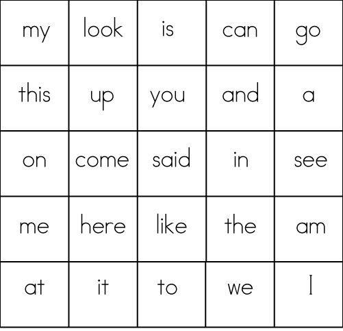 Sight-Word-Bingo-Card-2 | High Frequency Words | Pinterest | Sight ...