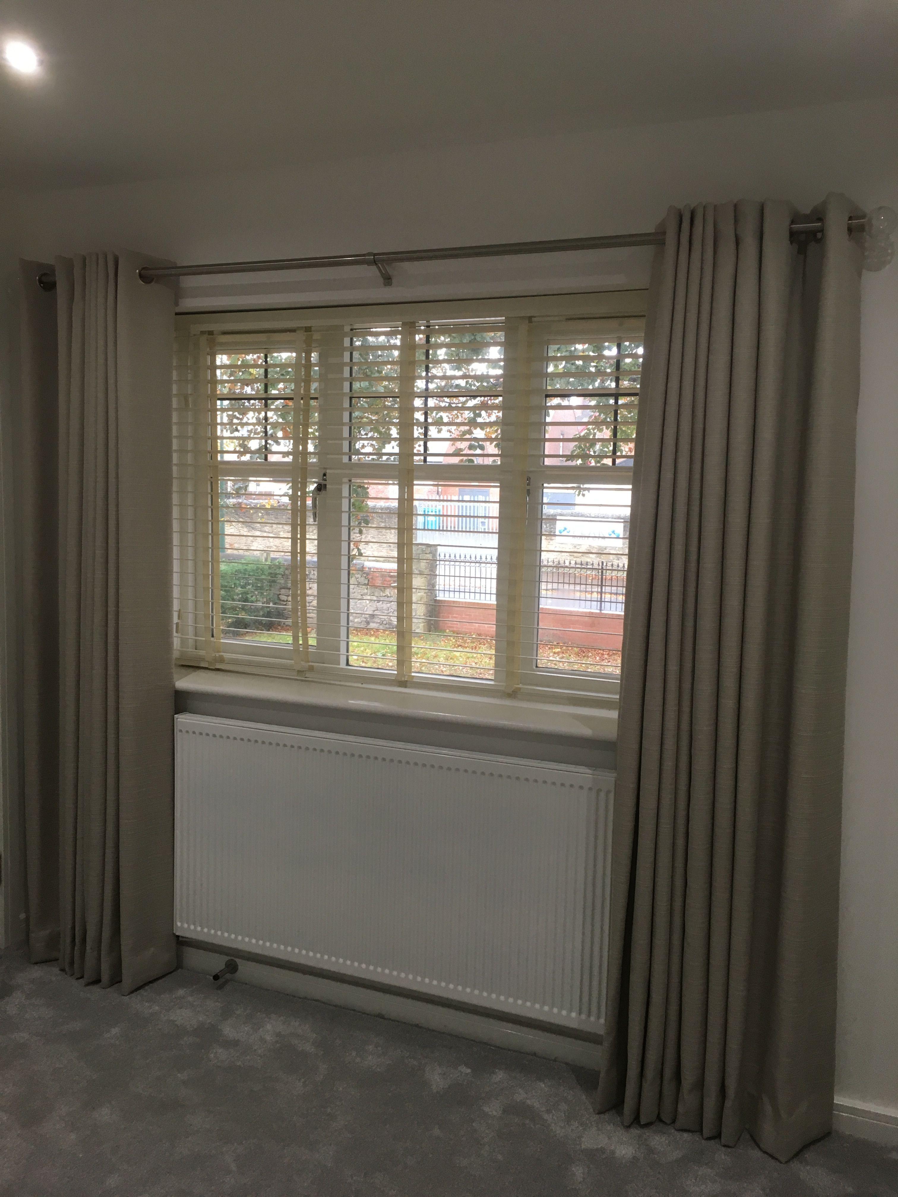 Full Length Eyelet Curtains Using Fabric From Ashley Wilde