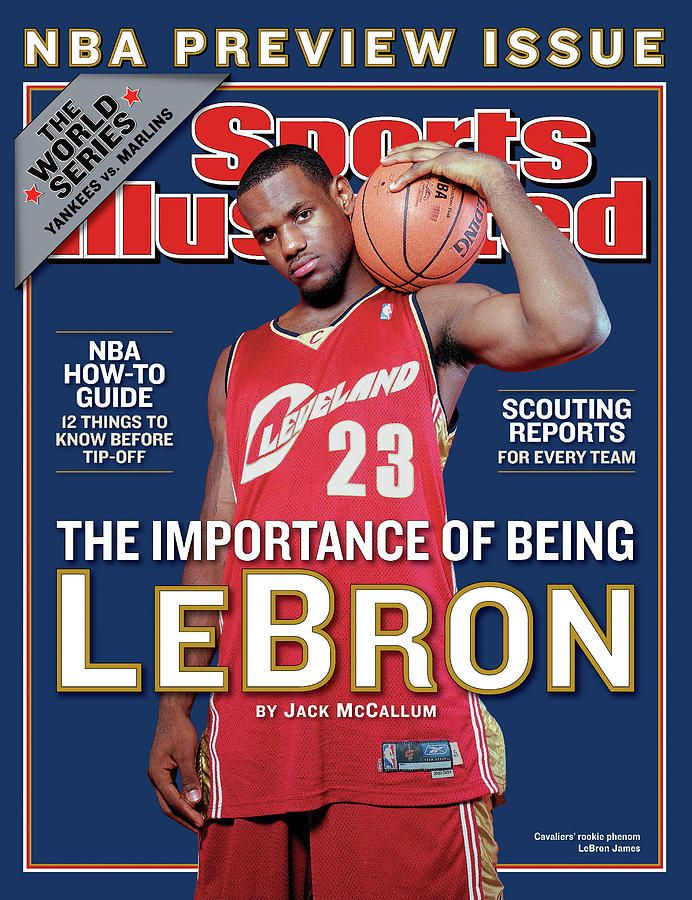 Cleveland Cavaliers LeBron James, 2003-04 Nba Basketball Sports Illustrated Cover by Sports Illustrated