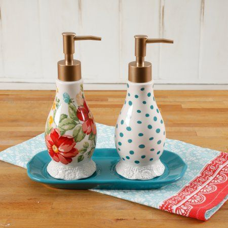 The Pioneer Woman Pioneer Wmn Ceramic Soap Set Products