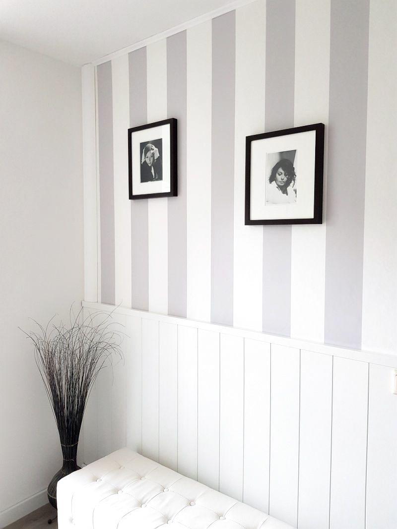 Landhausstil: Wand umgestalten mit Paneelen und Fototapete – Pretty You