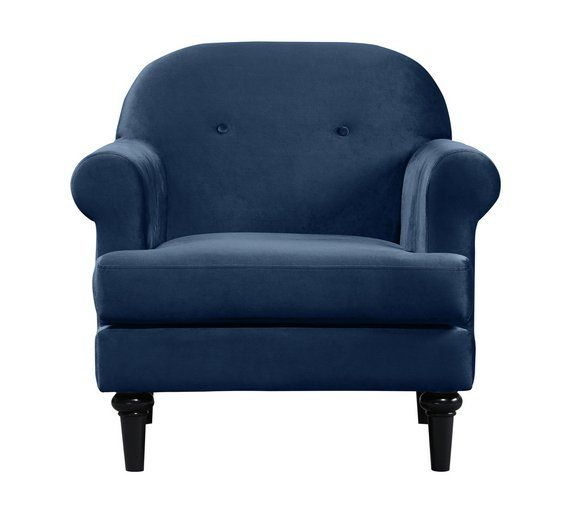 Peachy Buy Argos Home Whitney Velvet Chair Blue Armchairs And Gamerscity Chair Design For Home Gamerscityorg