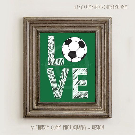 8x10 Soccer Love Wall Art Sports Printable 16040 By Christygomm