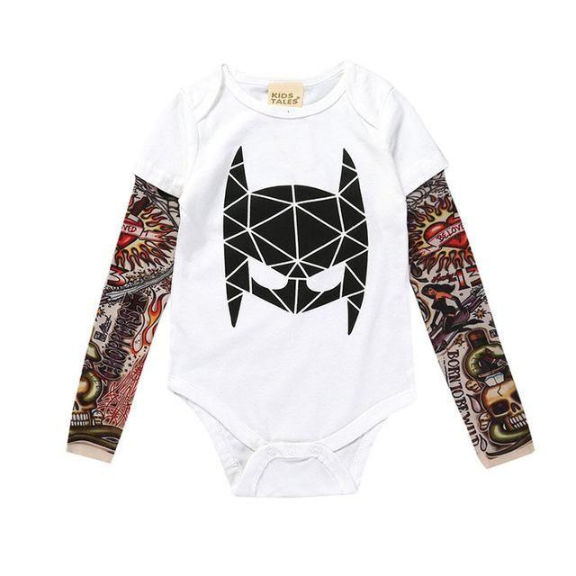 9d542e329f10 Cool Baby Tattoo Print Long Sleeve Costume