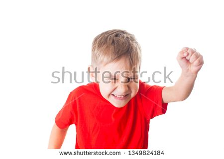 2eb33ee30004f Stock Photo: Happy little boy triumphing with raised hand | Freebies ...