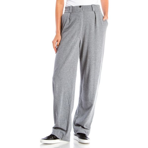 Pre-owned Dries Van Noten Pants ($110) ❤ liked on Polyvore featuring pants, apparel & accessories, grey, elastic pants, grey trousers, zipper pants, zip pants and elastic waistband pants