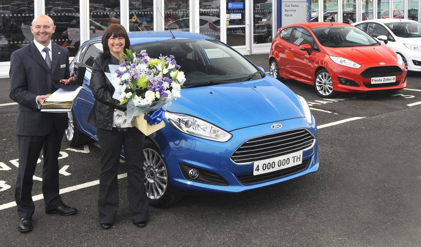 Over Four Million Ford Fiesta S Have Been Sold In The Uk Since The First Fiesta Went On Sale In 1976 The Four Millionth Car A Cand Ford News Ford Ford Fiesta