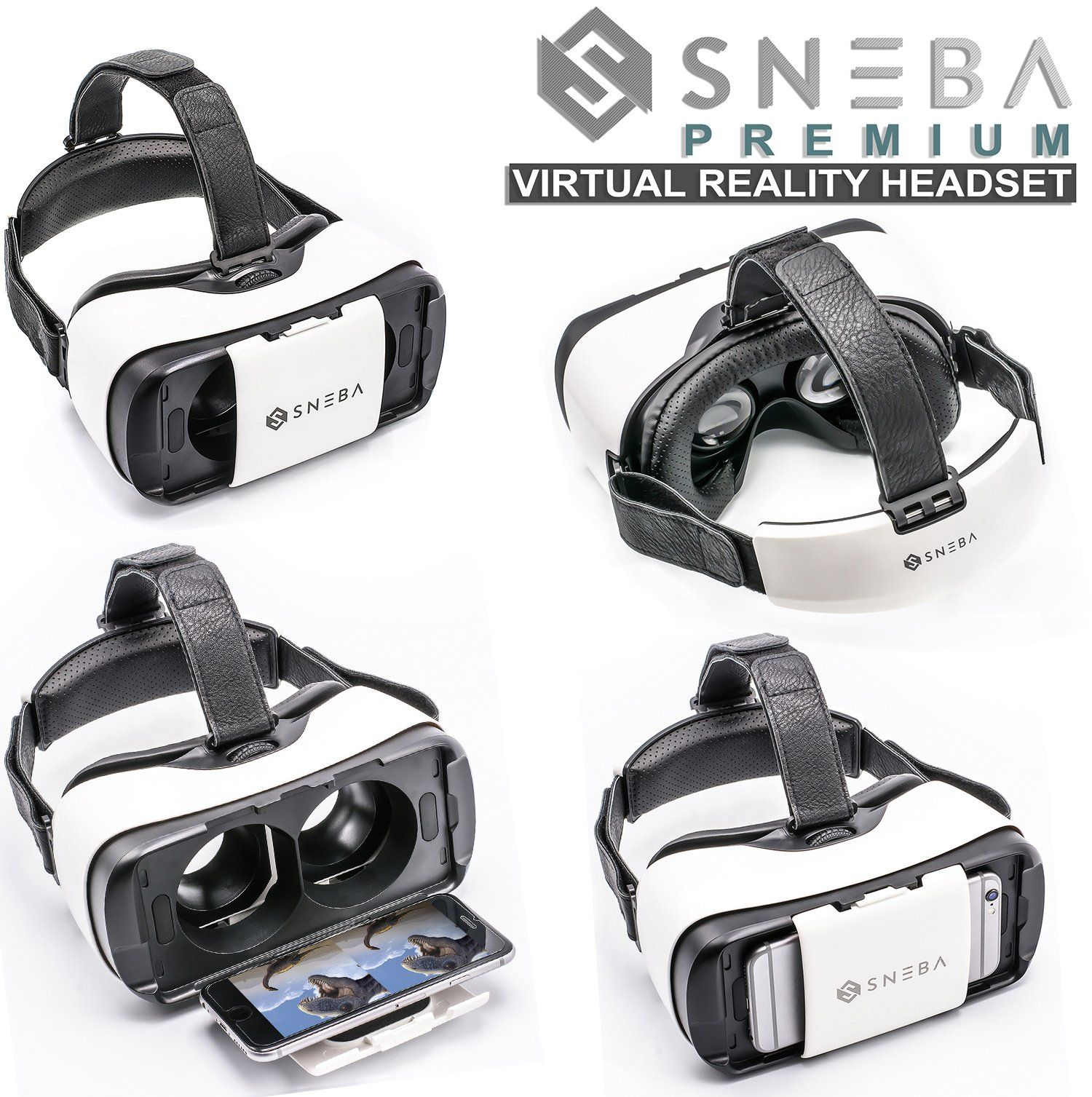 Vr Headset Sneba Black Virtual Reality Headset Vr Glasses For 3d Video Movies Games For Apple Iphone Virtual Reality Glasses Virtual Reality Headset Vr Headset