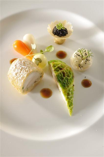 Poissons dressage assiette pinterest poissons for Formation cuisine gastronomique