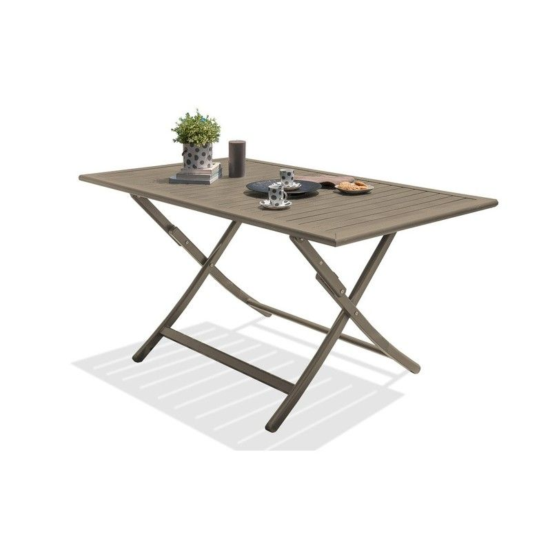 Table De Jardin De Repas Marius Rectangulaire Beige 4 6 Personnes Table De Jardin Table Et Chaises De Jardin Table Salon De Jardin