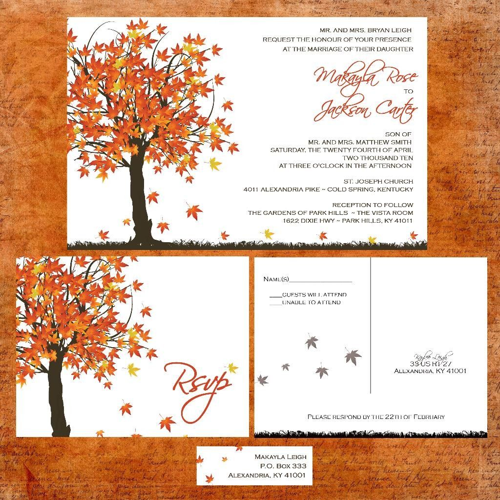 Charmant Autumn Wedding Themes