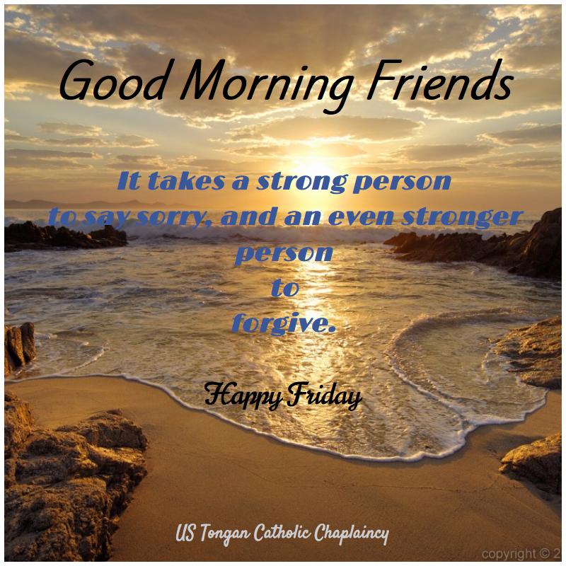 Good morning - Friday