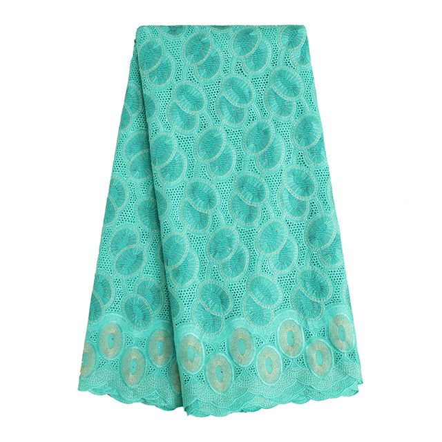 SL0421 Water green High Quality Swiss Voile Lace 2016 African Voile Swiss Lace Fabric African Polished Cotton Eyelet Lace Fabric
