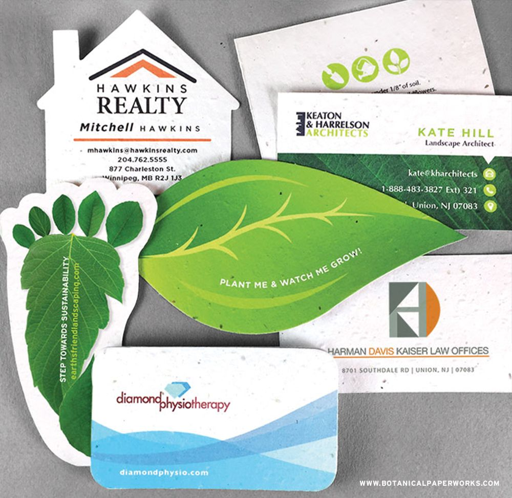 Simply Add Your Logo And Contact Information To These Pre Designed Seed Paper