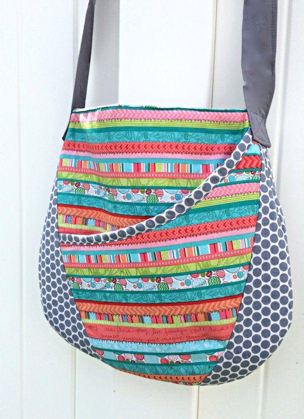Easy Oval Messenger Bag - Free Sewing Pattern | Nähen, kostenlose ...