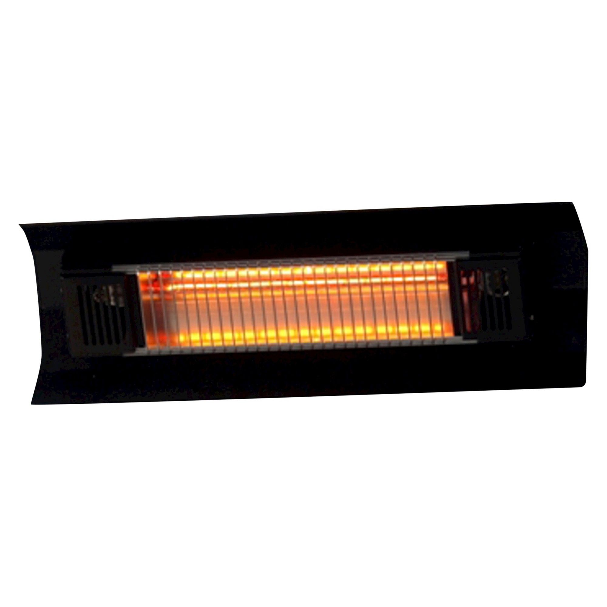 Fire sense black steel wall mounted infrared patio heater wall