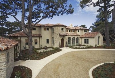 DRIVEWAY and FRONT of a CALIFORNIA LUXURY HOME constructed ...