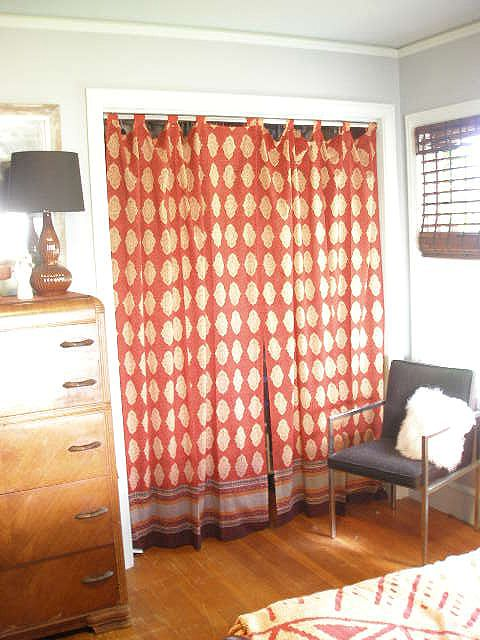 Spice Route Curtains Being Used As A Closet Door Curtains For Closet Doors Closet Curtains Curtains