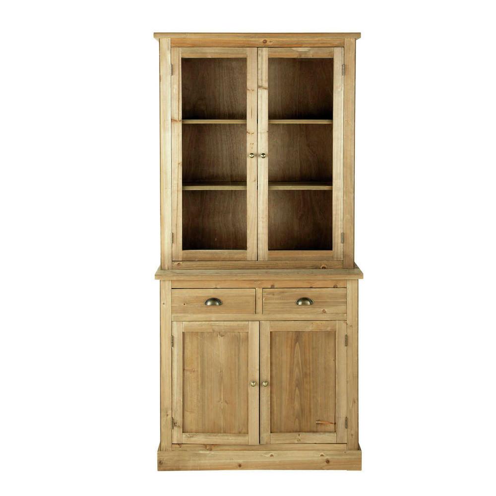 Wooden China Cabinet W 95cm Vaisselier Vaisselier Maison Du Monde Rangement Penderie