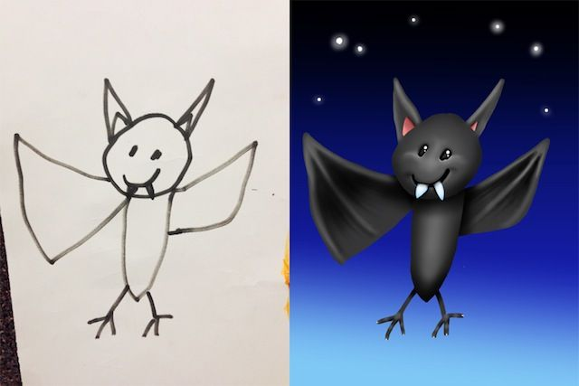 Creative Father colors his Kids' Drawings (12 Pictures)