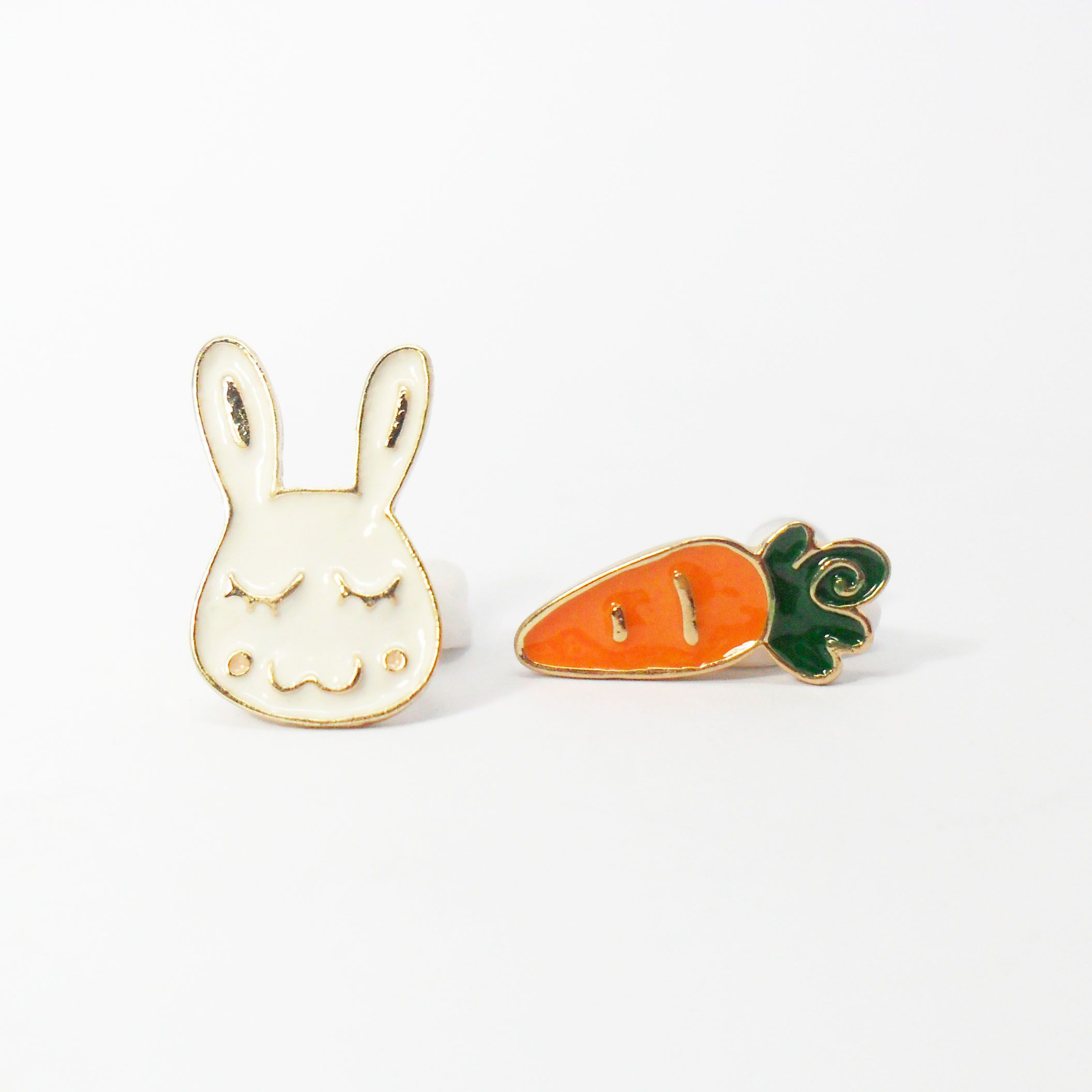 Mismatched Stud Earrings - Bunny & Carrot (Php 100) Made ...