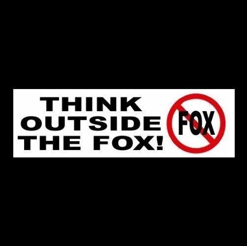 Funny think outside the fox anti fox news bumper sticker donald trump