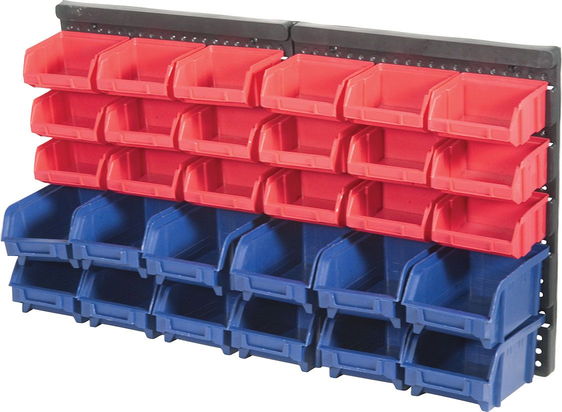 30 Bin Wall Mounted Storage Rack Princess Auto New Day Kids Club
