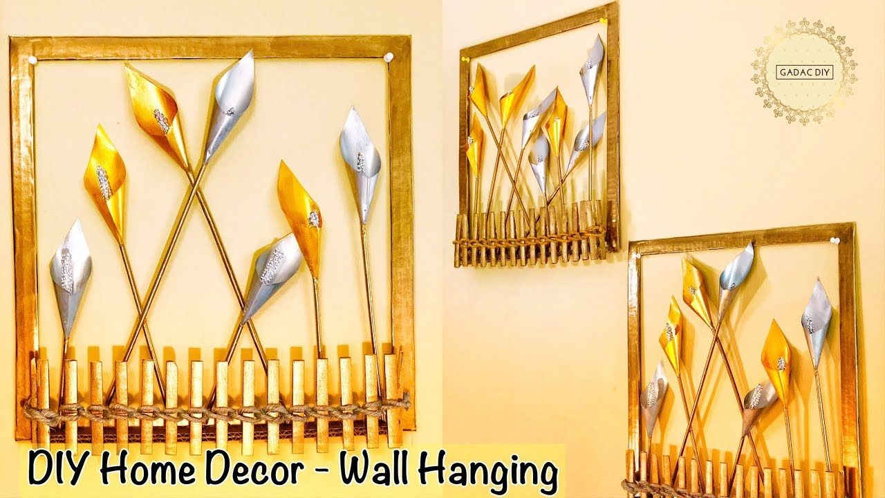Diy Wall Hanging Crafts | Wall hanging craft ideas | Unique wall ...