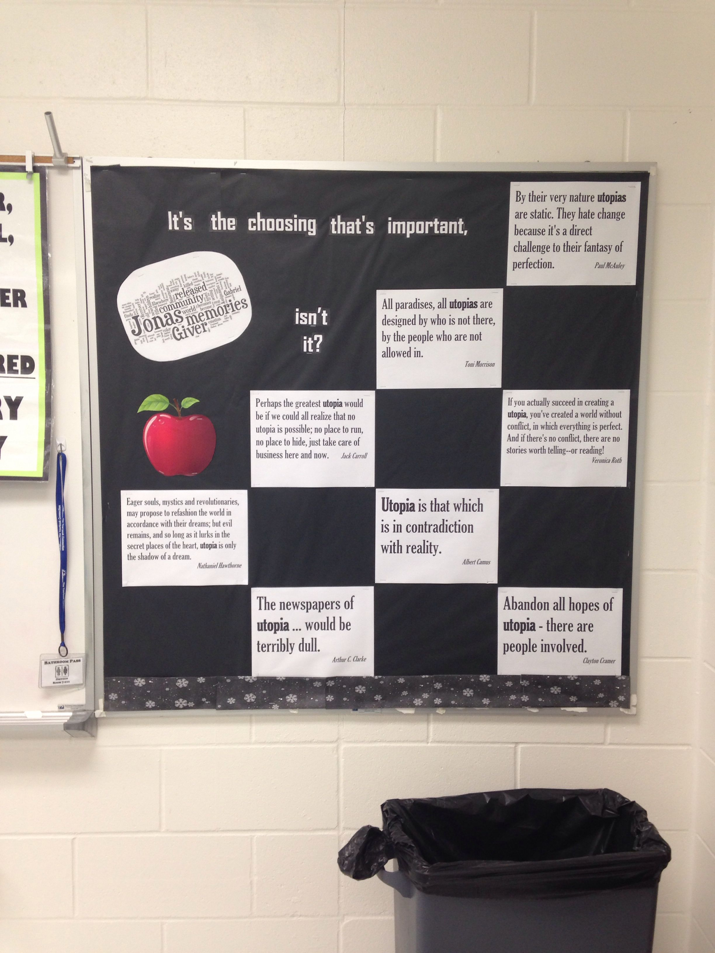 the giver bulletin board my teaching student the the giver bulletin board