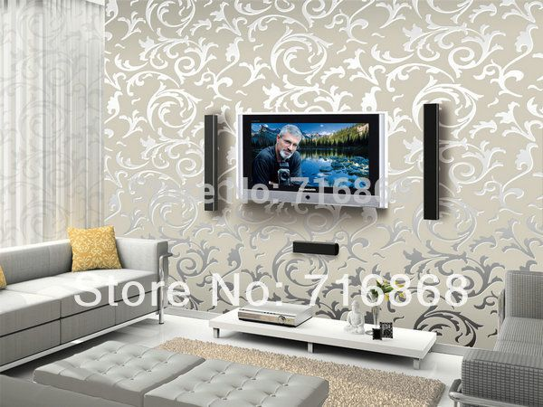 Aliexpress Buy Hot Vintage Classic Beige French Modern Damask Feature Wallpaper Wall Paper