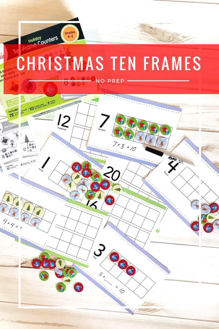 Use these awesome Christmas ten frame activities to practice ...
