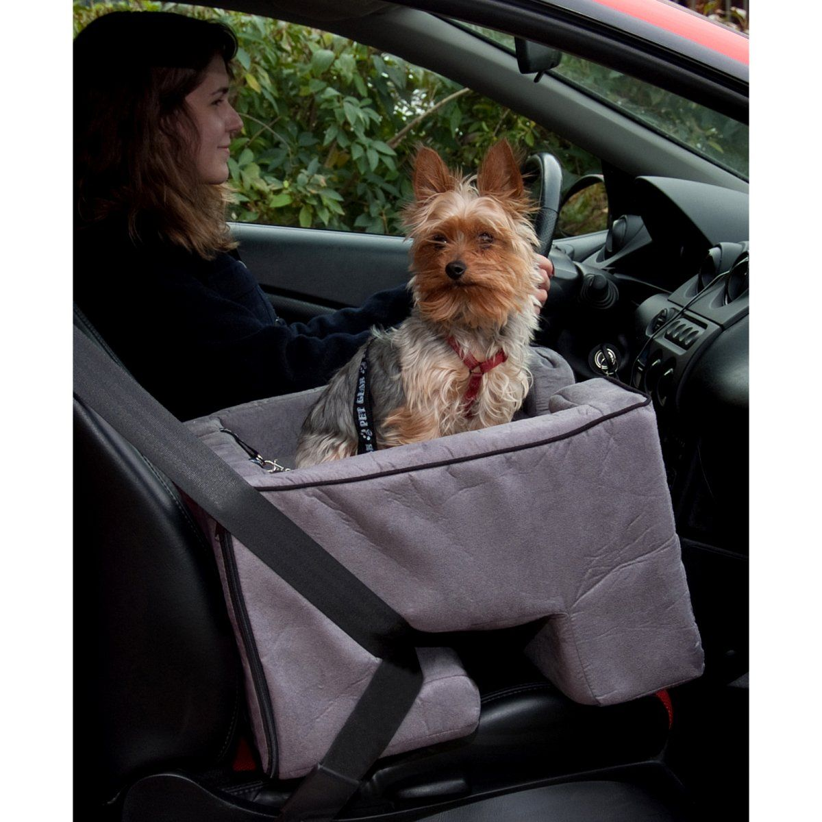 Pet Gear Booster Seat Medium Charcoal Dog Accessories at