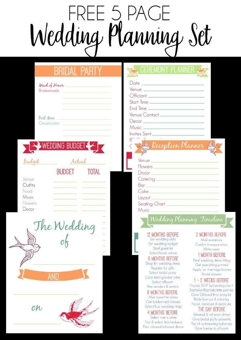 Free printable wedding planner pages awesome 30 page