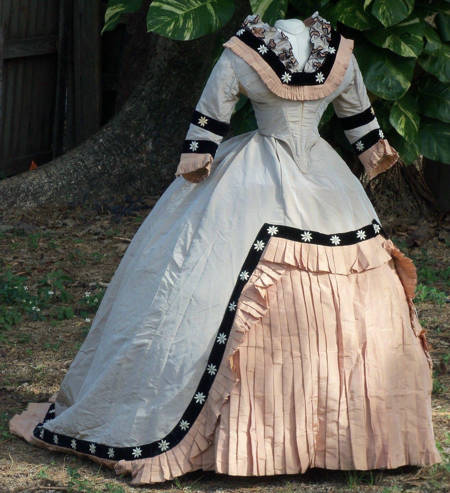 Original civil war era ball gown c s ebay civil war items
