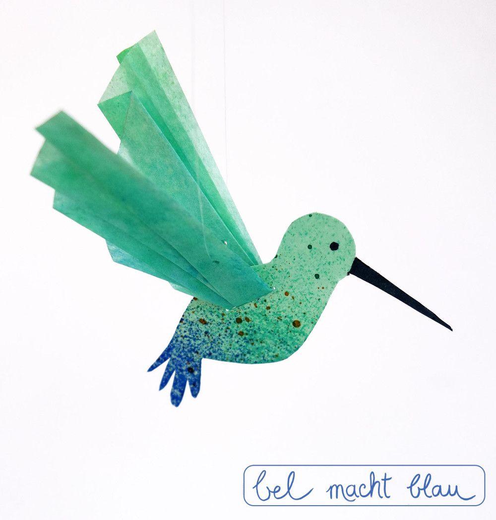 Kleiner Kolibri - Freebie mit Fotobastelanleitung   Pinterest ...